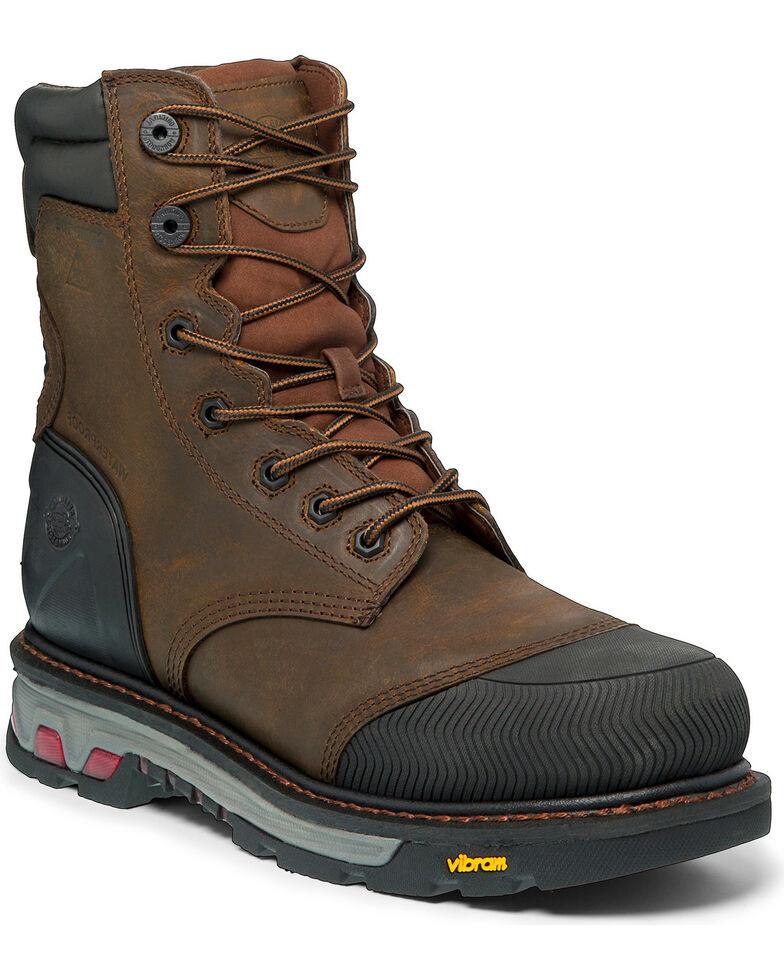 """Justin Men's Tan Warhawk Waterproof 8"""" Work Boots - Composite Toe , Tan, hi-res"""