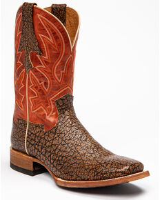 Cody James Men's Macho Sicario Western Boots - Wide Square Toe, Red/brown, hi-res