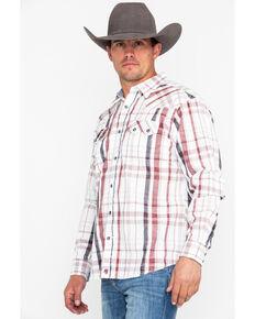Moonshine Spirit Men's Red Dragon Plaid Long Sleeve Western Shirt, White, hi-res