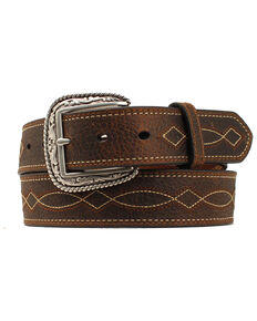 Ariat Men's Boot Stitch Western Belt, Brown, hi-res
