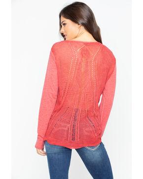 Ariat Women's Harvest Henley Solid Sweater Top , Rust Copper, hi-res