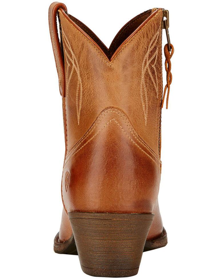 Ariat Women's Darlin Booties - Medium Toe , Brown, hi-res