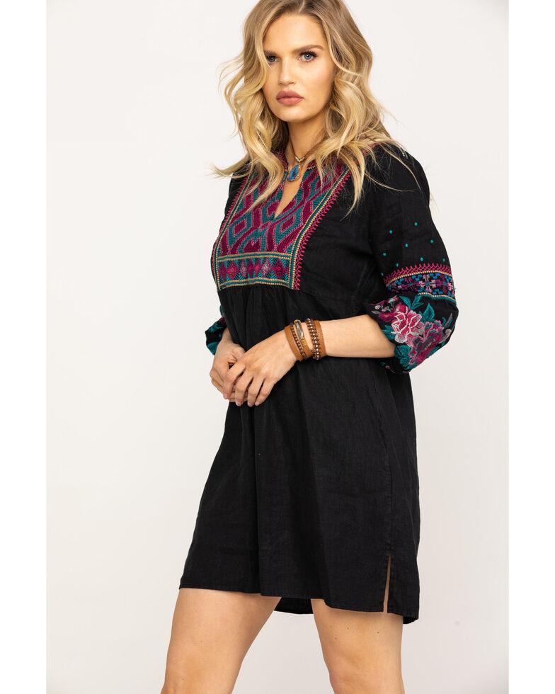Johnny Was Women's Annaliese Bishop Sleeve Peasant Dress, Black, hi-res