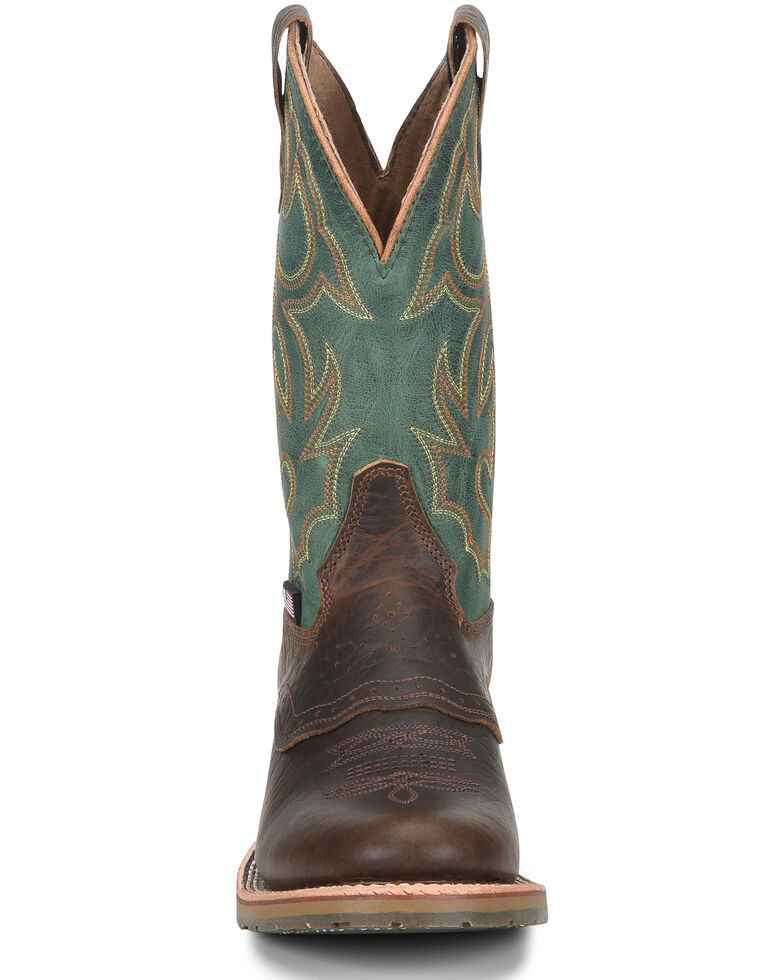 Double H Men's Domestic Western Boots - Wide Square Toe, Brown, hi-res