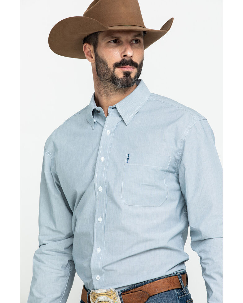 Cinch Men's Modern Fit Blue Striped Long Sleeve Western Shirt , Blue, hi-res