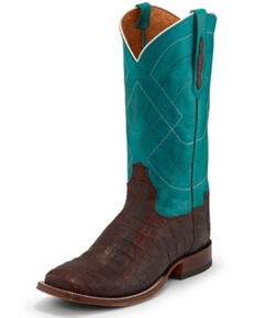 Tony Lama Men's Canyon Cognac Western Boots - Square Toe, Cognac, hi-res