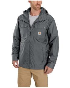 Carhartt Men's Steel Rockford Zip-Front Nylon Hooded Work Jacket, Steel, hi-res