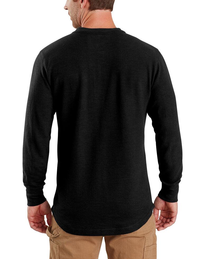 Carhartt Men's Tilden Long-Sleeve Henley Tee , Black, hi-res