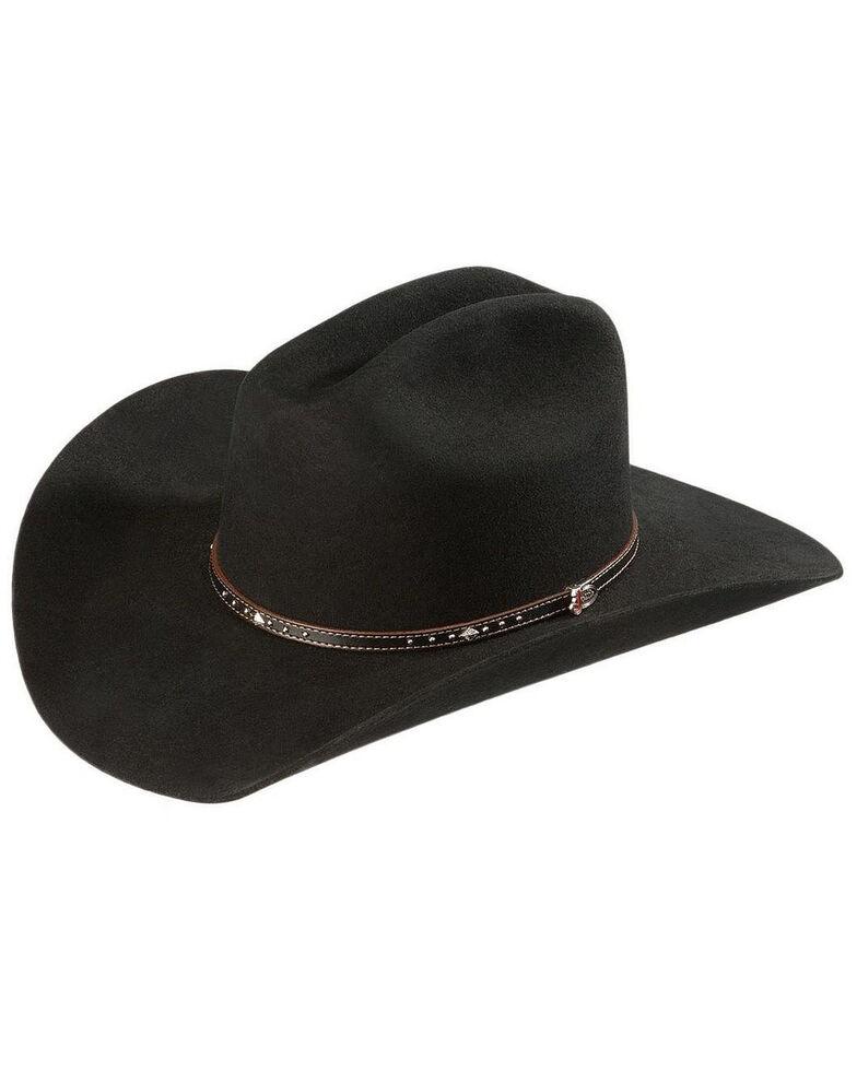 Justin 2X Black Hills Wool Cowboy Hat, Black, hi-res