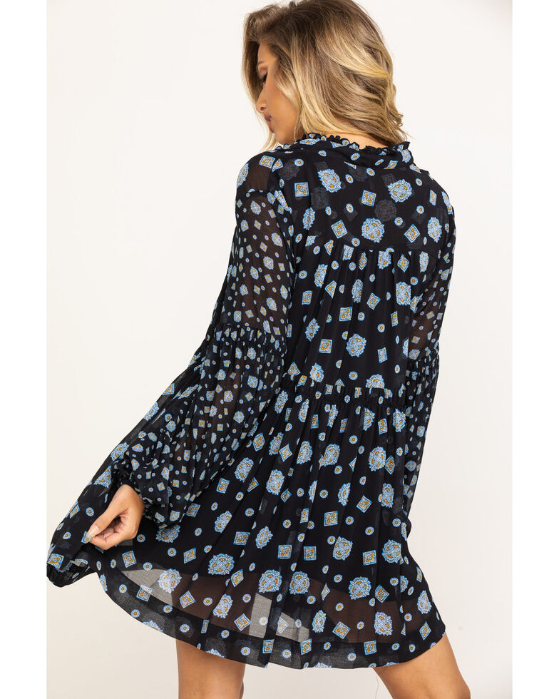 Free People Women's Turn Turn Mini Dress, Black, hi-res
