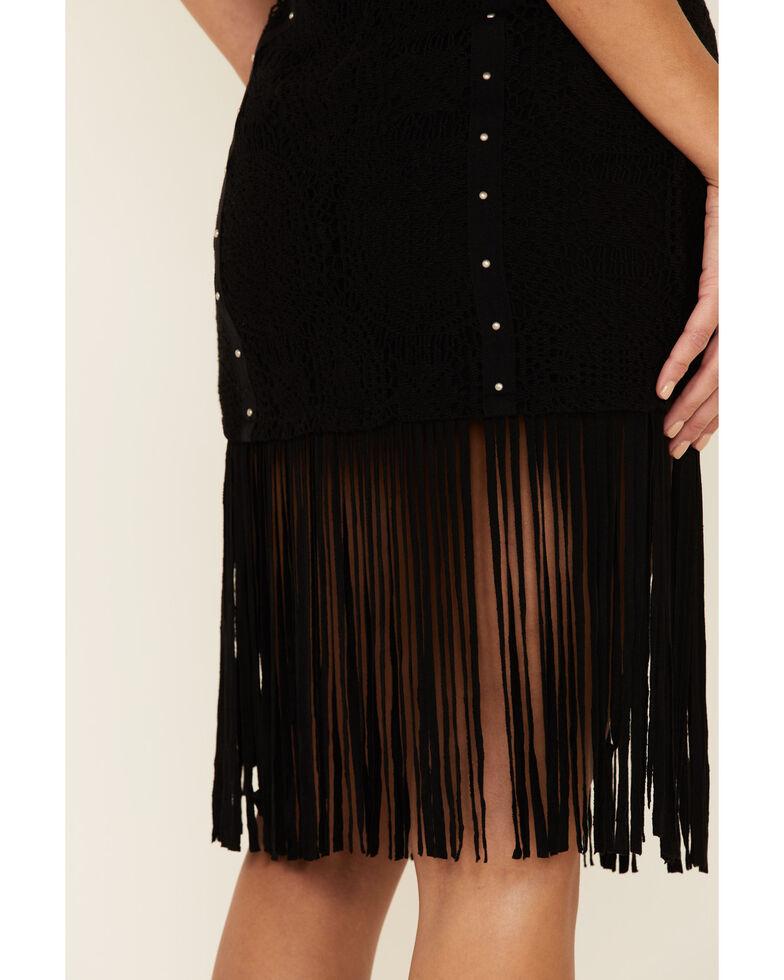 Idyllwind Women's Lightning Crochet Fringe Skirt, Black, hi-res