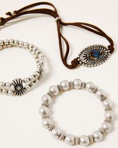Shyanne Women's Claire Concho Stretch Bracelet Set, Silver, hi-res