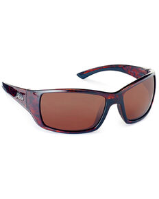 Hobie Everglades Shiny Dark Brown & Copper Polarized Sunglasses, Dark Brown, hi-res