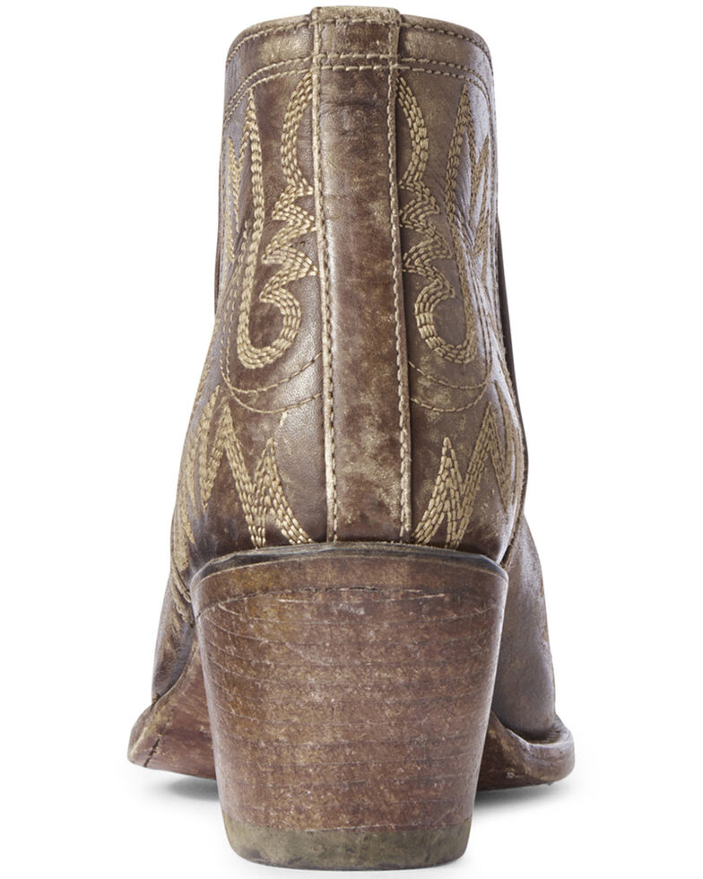 Ariat Women's Dixon Distressed Fashion Booties - Snip Toe, Brown, hi-res