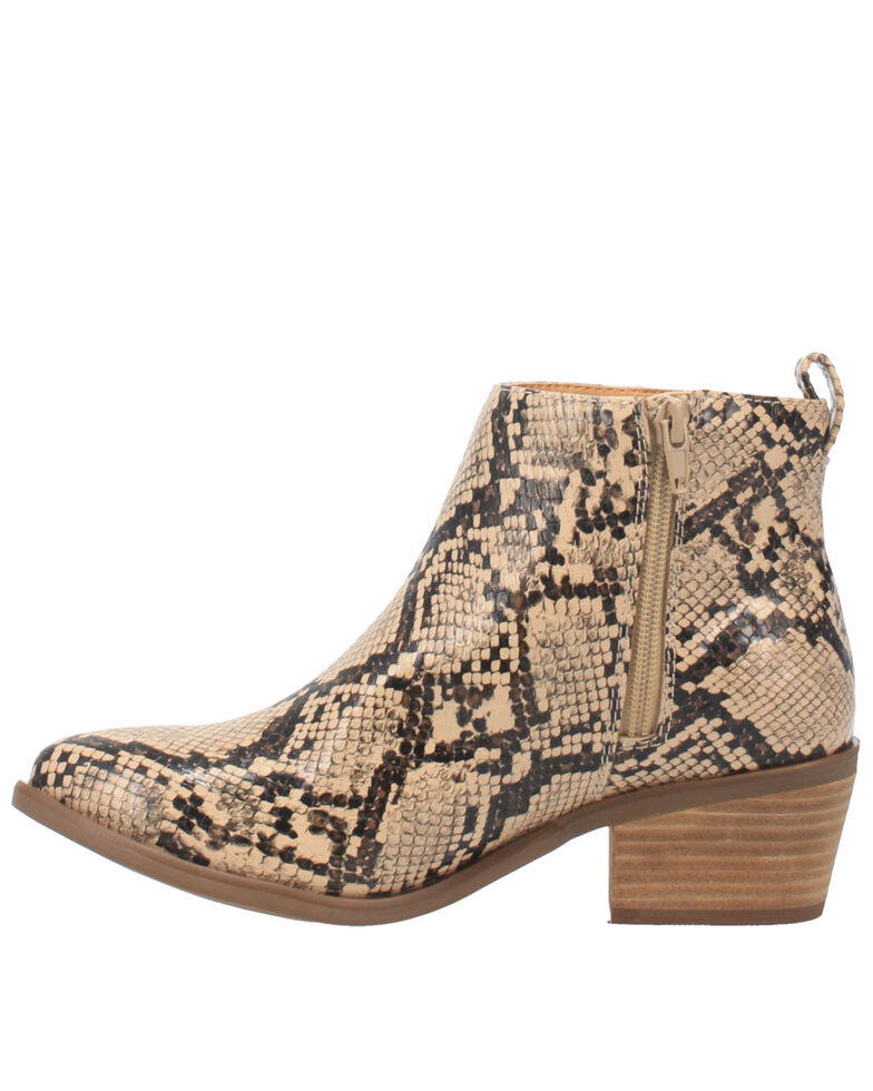 Code West Women's VooDoo Fashion Booties - Round Toe, Natural, hi-res