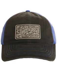 Rock & Roll Cowboy Men's Rubber Logo Patch Trucker Cap , Black, hi-res