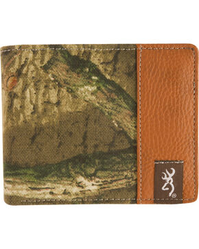 Browning Men's Mossy Oak Infinity Camo Bi-Fold Wallet, Camouflage, hi-res
