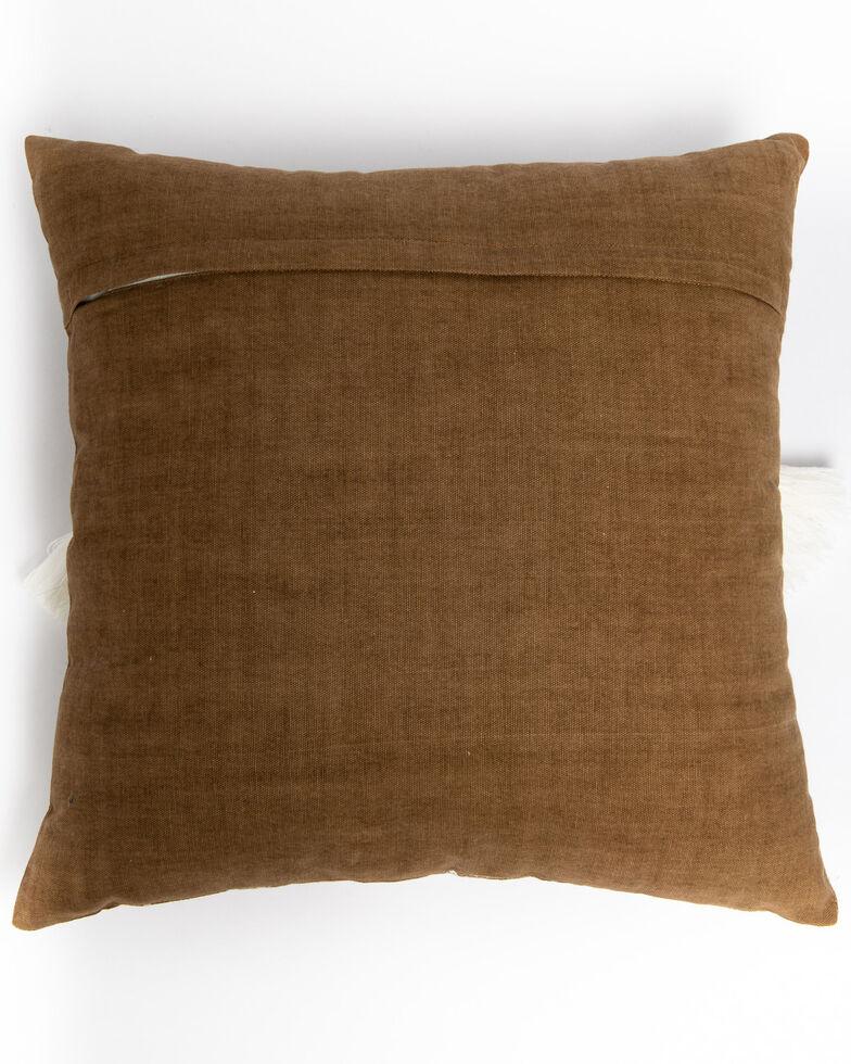 BB Ranch Taupe Aztec Tassel Pillow, Tan, hi-res