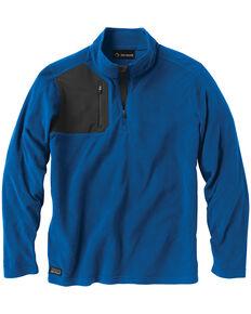 Dri Duck Men's Interval Quarter-Zip Fleece Pullover - Big, Blue, hi-res