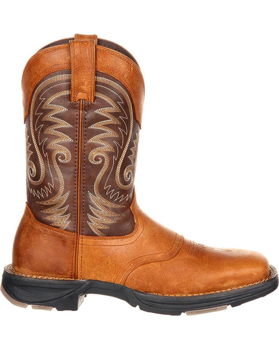 Durango Men's Brown Ultralite Western Saddle Boots - Square Toe , Brown, hi-res