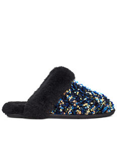 UGG Women's Stellar Sequin Scuffette II Slippers, Black, hi-res