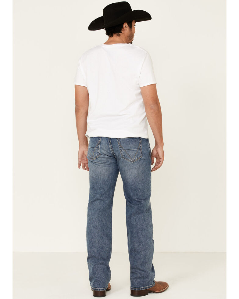 Rock & Roll Denim Men's Vintage 46 Double Barrel Stretch Relaxed Straight Jeans , Blue, hi-res