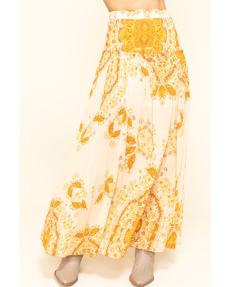 Free People Women's Farrah Drop Waist Skirt , Yellow, hi-res