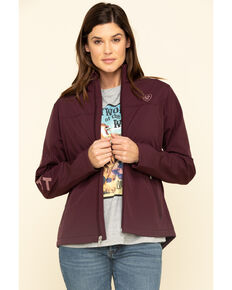 Ariat Women's Winetasting New Team Softshell Jacket , Wine, hi-res