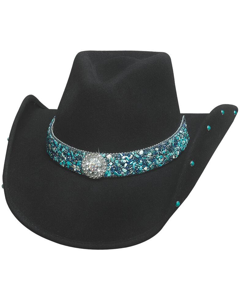 Bullhide Women's Dancin' Crazy Wool Felt Cowboy Hat , Black, hi-res