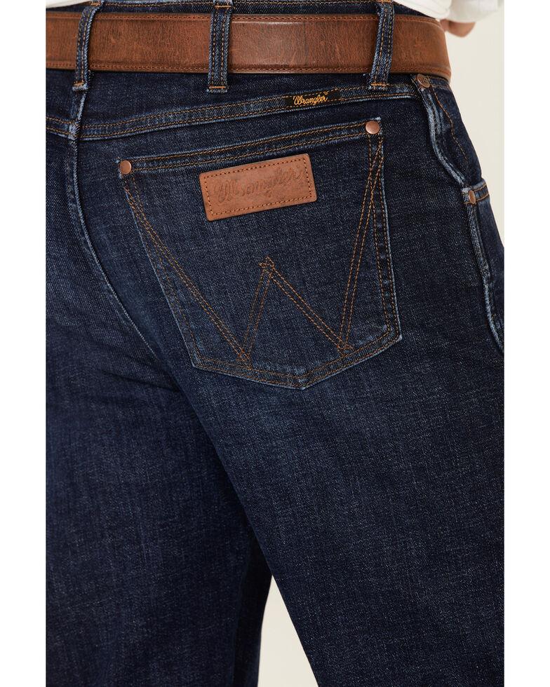 Wrangler Retro Premium Men's Oswald Dark Stretch Slim Straight Jeans , Blue, hi-res