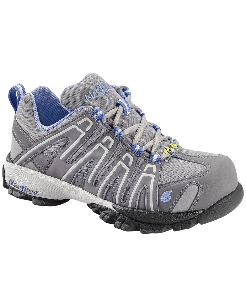 Nautilus Women's Blue Grey Lightweight SD Athletic Work Shoes - Soft Toe , Grey, hi-res