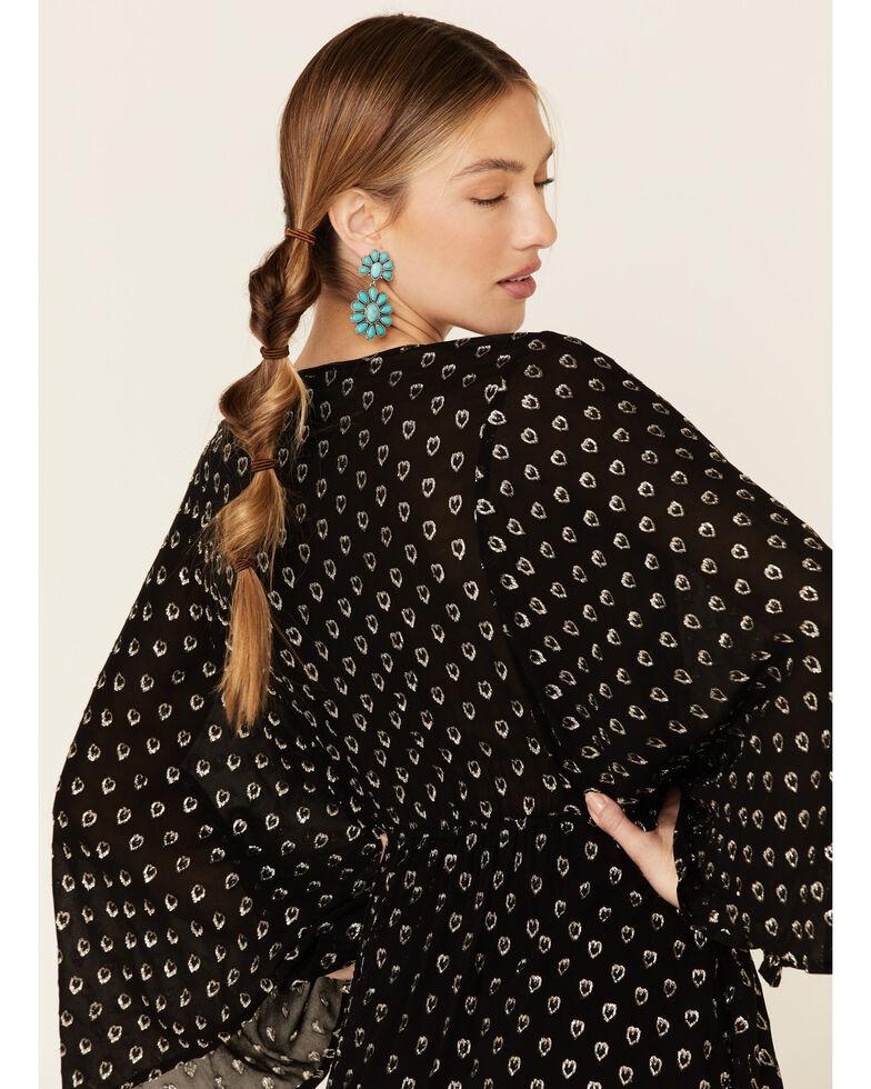 Band of Gypsies Women's Metallic Heart Dress, Black, hi-res