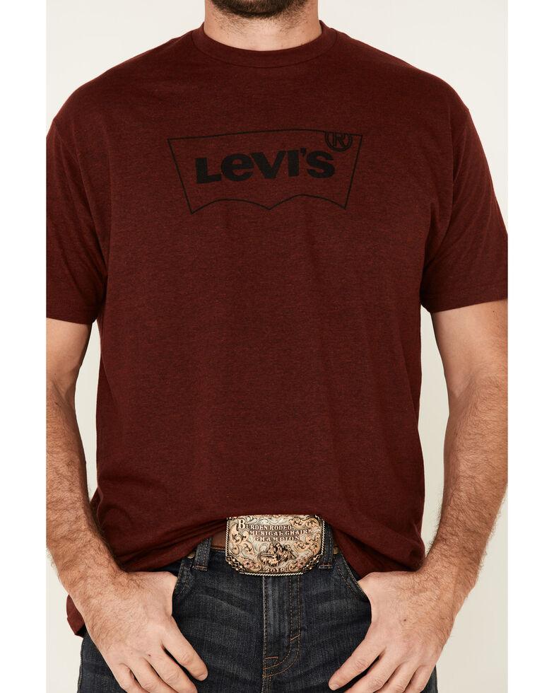 Levi's Men's Crimson Batwing Logo Graphic T-Shirt , Dark Red, hi-res