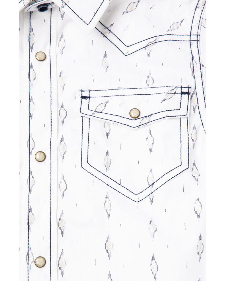 Cody James Boys' Lava Lamp Printed Woven Short Sleeve Western Shirt , White, hi-res