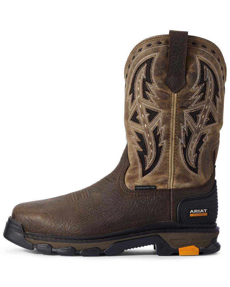 Ariat Men's Intrepid VentTek Spear Western Work Boots - Composite Toe, Brown, hi-res