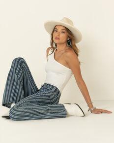 Rock & Roll Denim Women's Multi Stripe Flare Jeans, Multi, hi-res