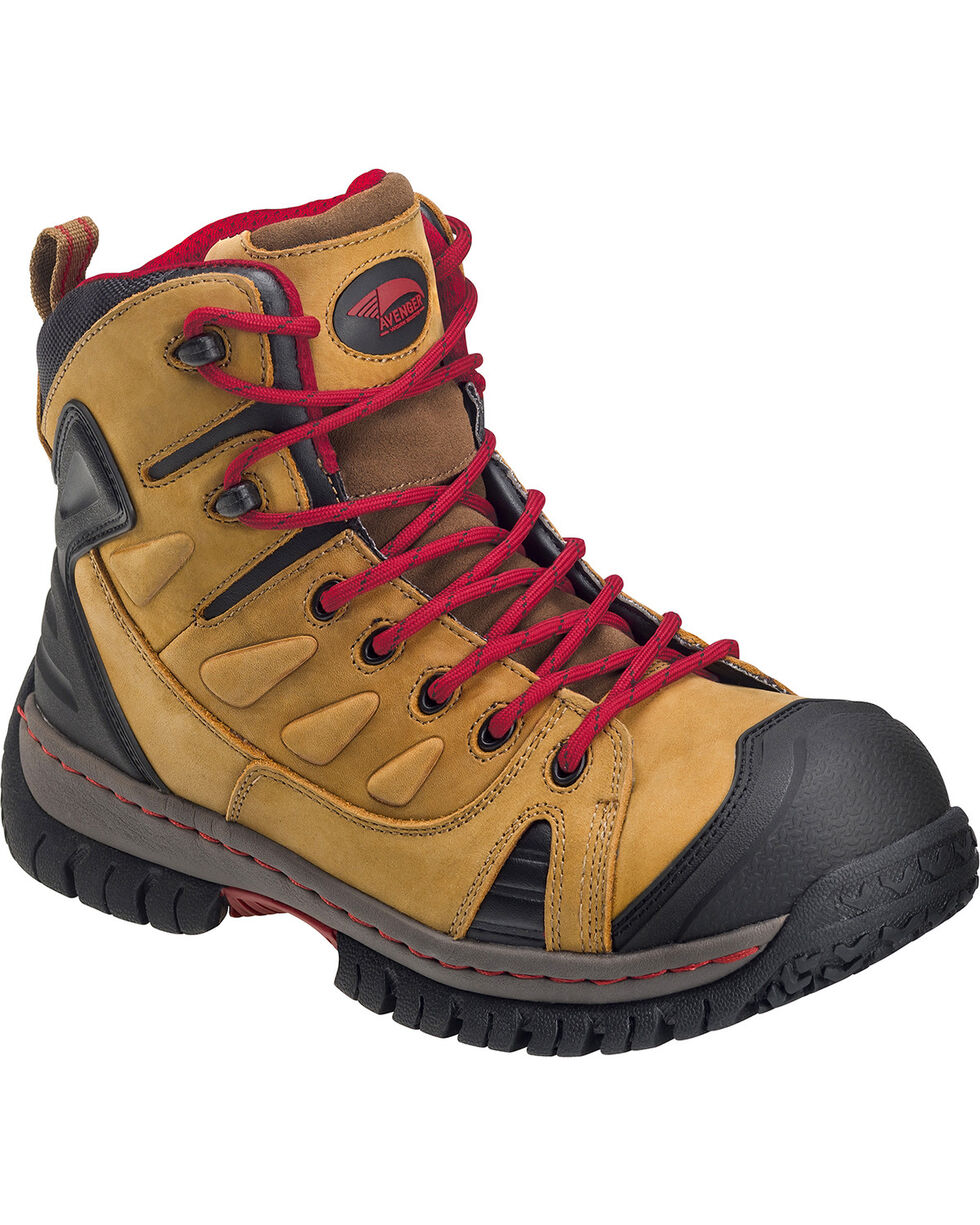 Avenger Men's Brown Waterproof Hiker Work Boots - Steel Toe, Brown, hi-res