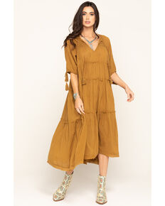 Free People Women's Celestial Skies Maxi Dress , Bronze, hi-res