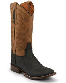Tony Lama Men's Canyon Black Western Boots - Square Toe, Black, hi-res