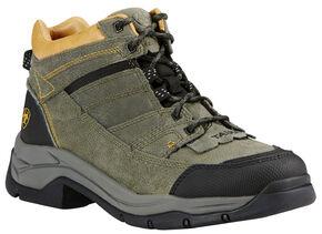 Ariat Men's Olive Terrain Pro Performance Boots - Round Toe, Olive, hi-res