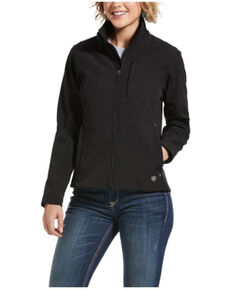 Ariat Women's Black REAL Softshell Jacket , Black, hi-res