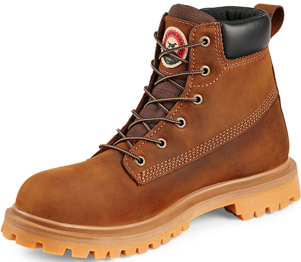 """Irish Setter by Red Wing Shoes Men's Hopkins 6"""" EH Waterproof Work Boots - Soft Round Toe , Brown, hi-res"""