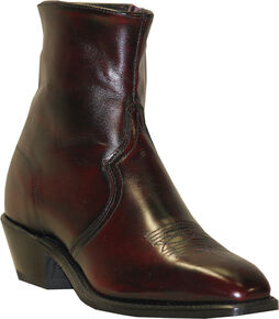 Abilene Boots Men's Zipper Short Dress Boots, Black Cherry, hi-res