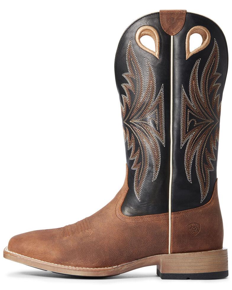 Ariat Men's Granger Western Boots - Wide Square Toe, Brown, hi-res