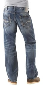 548956ee Silver Zac Relaxed Fit Straight Leg Jeans
