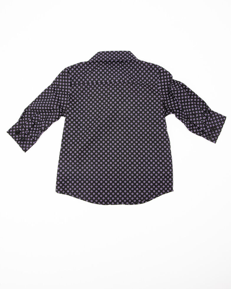 Cinch Infant Boys' Black Geo Print Long Sleeve Western Shirt , Black, hi-res