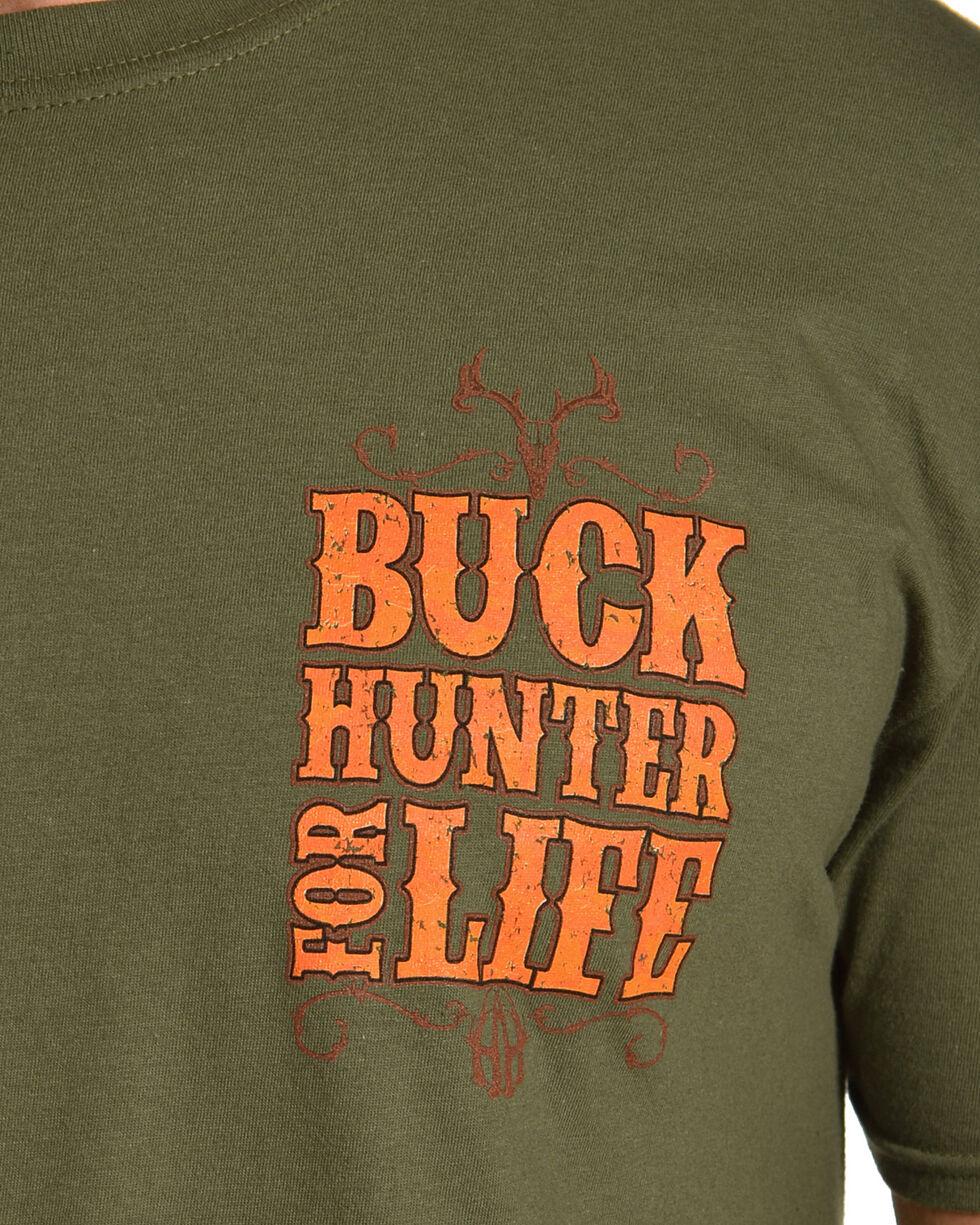 Cowboy Hardware Men's Buck Hunter Tee, Green, hi-res