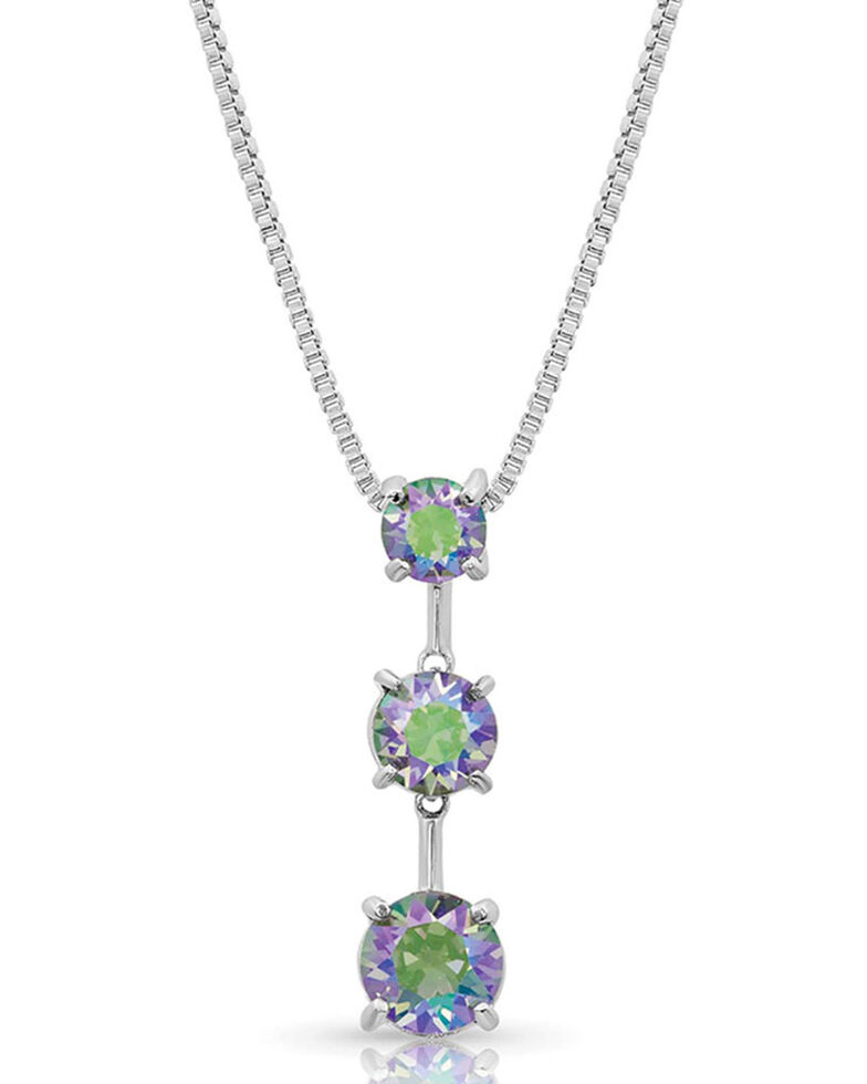 Montana Silversmiths Women's Northern Lights Paradise Skies Necklace, Silver, hi-res
