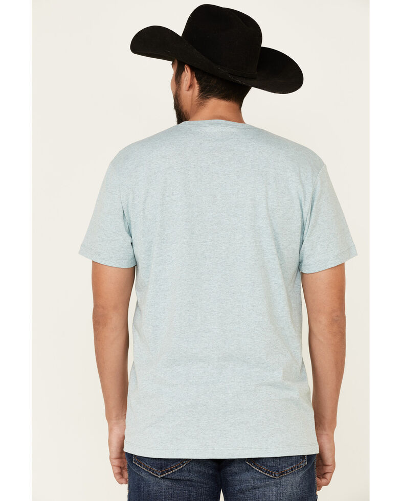 Cinch Men's Light Blue Square Logo Graphic T-Shirt , Light Blue, hi-res