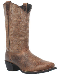 Laredo Men's Alfred Western Boots - Square Toe, Brown, hi-res